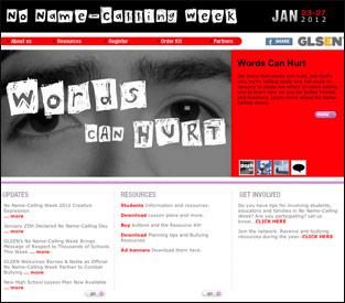 No Name-Calling Week website homepage