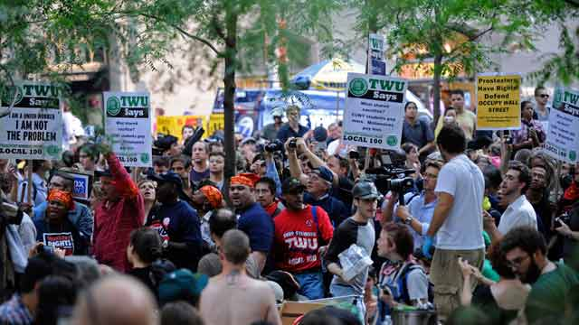 Occupy Wall Street - Unions in Zuccotti Park