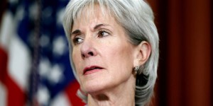 Health and Human Services Secretary Kathleen Sebelius is seen in the Oval Office at the White House in Washington. Credit: AP Photo/Charles Dharapak