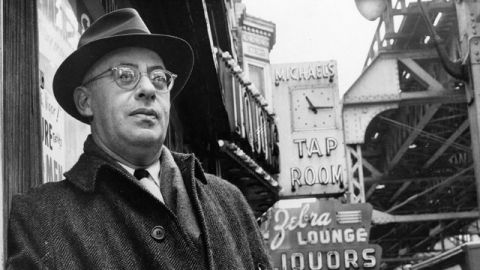 Saul Alinsky, a professional organizer with a strong aversion to welfare programs. February 1966. (AP Photo)