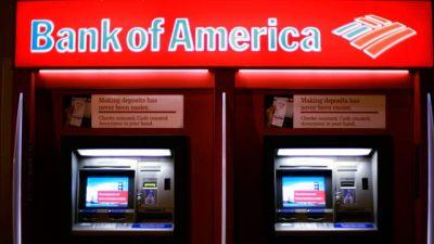 A night scene of a Bank of America ATM on K Street NW in Washington. November 2006. (AP Photo/J. Scott Applewhite)