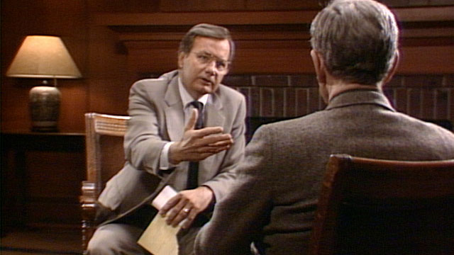 A still from Bill Moyers's interview with Joseph Campbell (1988)