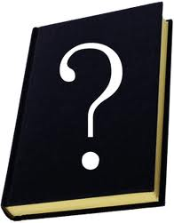 book with question mark on its cover