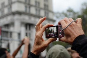 The Occupy Wall Street demonstration stormed the Brooklyn Bridge.