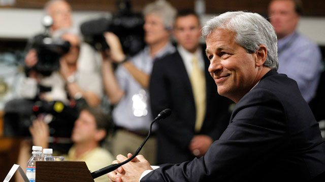 JPMorgan Chase CEO Jamie Dimon, head of the largest bank in the United States, prepares to testify before the Senate Banking Committee about how his company recently lost more than $2 billion on risky trades. June 2012. (AP Photo/Haraz N. Ghanbari)