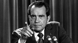 President Nixon at a White House news conference in March 1973. (AP Photo/Charles Tasnadi, File)
