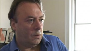 A scene from a Vanity Fair video in which Christopher Hitchens is waterboarded and then interviewed about the experience.