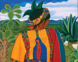 Painting by Santa Barraza