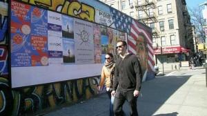 Freelancers Union ads on a NYC street