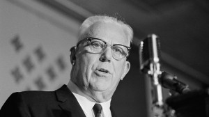 Chief justice Earl Warren addresses a national crime conference in 1967. (AP Photo)