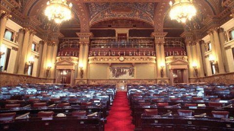 Pennsylvania House of Representatives Chamber. (AP Photo/Kalim A. Bhatti)