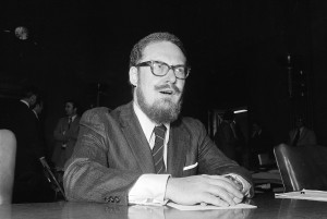 Robert Bork testifies before the Senate Judiciary Committee in 1973 as Acting Attorney General. (AP Photo/Bob Daugherty)