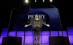 Texas Gov. Rick Perry speaks during the Texas Republican Convention in Fort Worth. June 2012. (AP Photo/LM Otero)