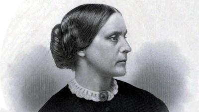 Engraving of Susan B. Anthony, c. 1855
