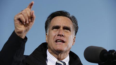 Mitt Romney gesturing during a speech as he prepares for his second presidential debate. October 2012 (AP Photo/Charles Dharapak, File)