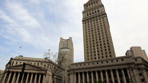 The Supreme Court, Federal Court, and the Thurgood Marshal U.S. Courthouse buildings in New York. May 2011 (AP Photo/Mary Altaffer)