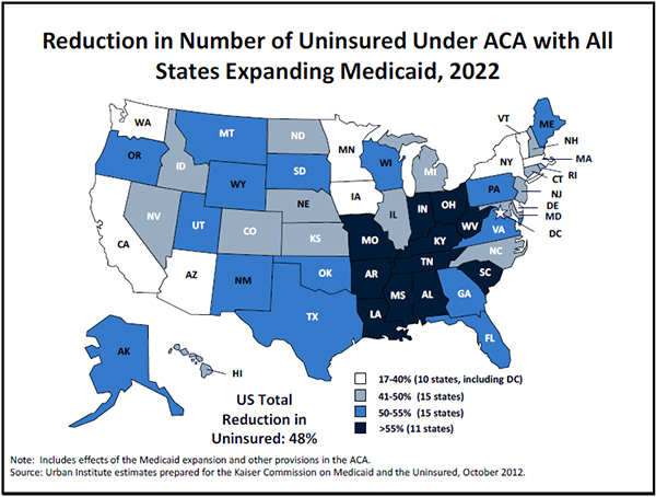 obamacare medicaid The law's incentives push states to spend more on new enrollees, and less on the disabled and ill.