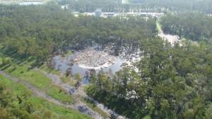 The sinkhole in Bayou Corne, Assumption Parish, Louisiana