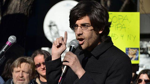 Aaron Swartz at a Stop SOPA rally on Jan. 18, 2012. Photo by Daniel J. Sieradski, Creative Commons