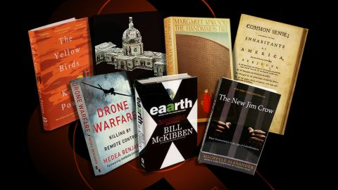 Composite image of books audiences picked for President Obama to read.