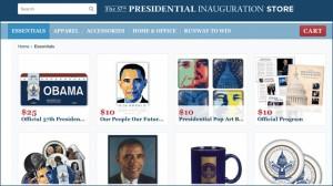 President Obama's 2013 Inauguration store website