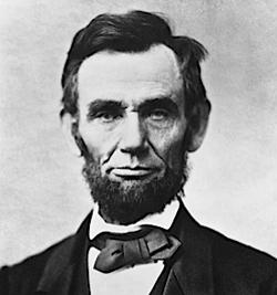Abraham Lincoln, by Alexander Gardner, via Wikimedia Commons