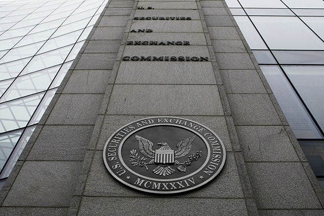 The Securities and Exchange Commission (SEC) headquarters in Washington. (AP Photo)