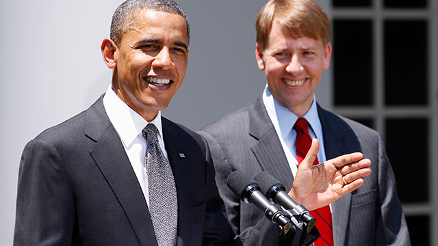 Barack Obama, Richard Cordray