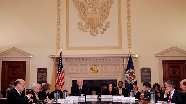 Ben Bernanke, Janet yellen, Elizabeth Duke, Daniel Tarullo, Sarah Raskin, Jeremy Stein, Jerome Powell
