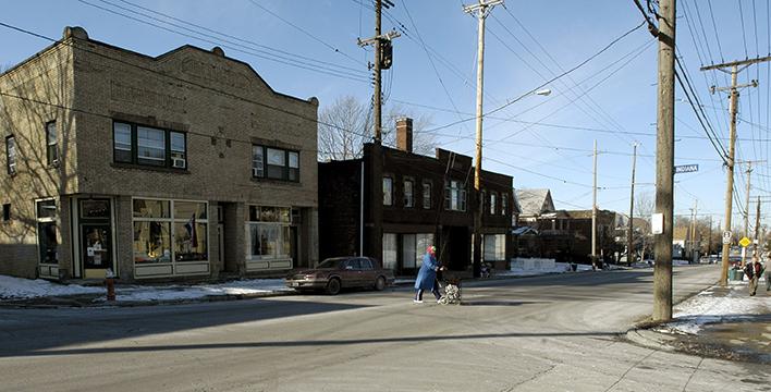 A typical street scene in a neighborhood in Cleveland, Jan. 25, 2008. (AP Photo/Jamie-Andrea Yanak)