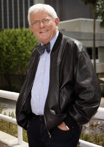 """Former TV talk show host Phil Donahue poses for a photograph in downtown Los Angeles on Wed. April 23,2008. Donahue co-director and executive producer behind a new documentary """"Body of War""""  the story of a young veteran, Thomas Young, 25, who was shot and paralyzed from the chest down after serving in Iraq for less than a week. The story about his coming home and dealing with his disability. (AP Photo/Richard Vogel)"""