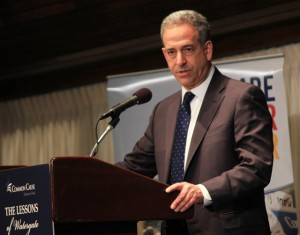 Former Senator Russ Feingold at a Common Cause conference to commemorate the 40th anniversary of Watergate.