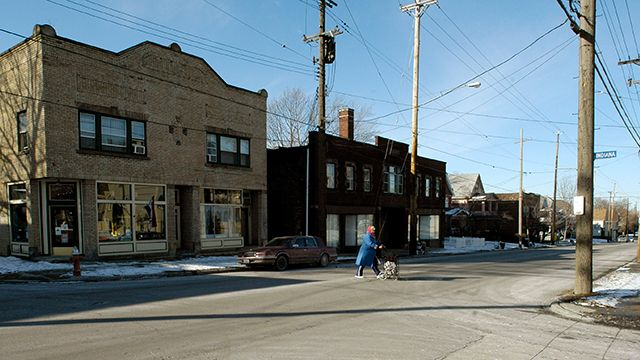 A typical street scene in a neighborhood in Cleveland, Friday, Jan. 25, 2008. A report commissioned last November by the U.S. Conference of Mayors projected that 361 metropolitan areas would take an economic hit of $166 billion in 2008. Cuyahoga County, which includes Cleveland, has about 17,000 vacant foreclosed properties,roughly 4 percent of its 395,000 houses. (AP Photo/Jamie-Andrea Yanak)