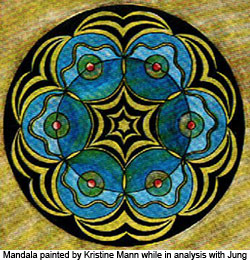 Mandala painted by Kristine Mann while in analysis with Carl Jung.