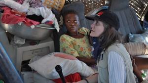 Amy Goodman reporting in Haiti
