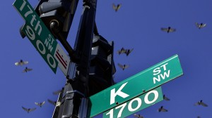 K Street has long been invoked as shorthand for moneyed lobbyists who ply influence in the city. (AP Photo/Charles Dharapak, File)