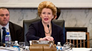 Senate Agriculture Committee Chair Sen. Debbie Stabenow, D-Mich. speaks on Capitol Hill in Washington, Tuesday, May 14, 2013, during the committee's hearing on the Farm Bill, officially known as the Agriculture Reform, Food and Jobs Act of 2013.  (AP Photo/J. Scott Applewhite)