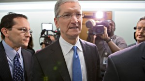 Apple CEO Tim Cook arrives on Capitol Hill, in Washington, Tuesday, May 21, 2013, to testify before the Senate Homeland Security and Governmental Affairs Permanent subcommittee on Investigations hearing to examine the methods employed by multinational corporations to shift profits offshore and how such activities are affected by the Internal Revenue Code. (AP Photo/J. Scott Applewhite)
