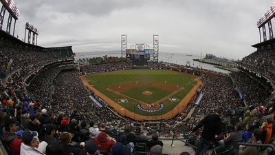 Pregame festivities are shown at AT&T Park before the final game of the World Baseball Classic between Puerto Rico and the Dominican Republic in San Francisco, Tuesday, March 19, 2013. (AP Photo/Jeff Chiu)