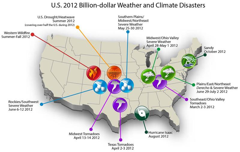 NOAA disaster map