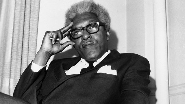 Civil rights leader Bayard Rustin is shown in his Park Avenue South office in New York City, in April 1969. (AP Photo/A. Camerano)