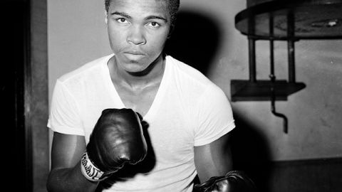 A young Muhammad Ali at City Parks Gym in New York, Feb. 8, 1962. (AP Photo/Dan Grossi)