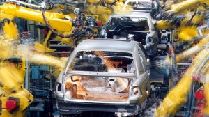 An automated production line with robots at the Opel factory in Ruesselheim is shown on this undated handout photo. (AP Photo/Opel, HO)