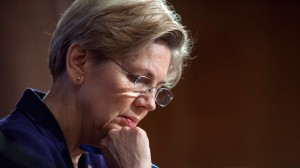 Sen. Elizabeth Warren, D-Mass., pauses while questioning a witness at Senate Banking Committee hearing. (AP Photo/Cliff Owen)