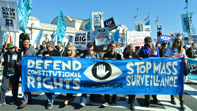 An October rally against NSA in Washington organized by StopWatching.Us, a coalition that includes Free Press. (Photo: Free Press/flickr)