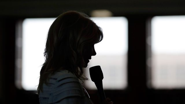 Sen. Wendy Davis (D-Fort Worth) begins a filibuster in an effort to kill an abortion bill, Tuesday, June 25, 2013, in Austin, Texas. (AP Photo/Eric Gay)