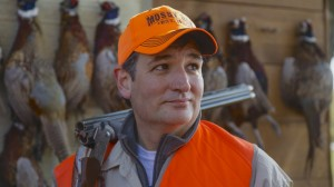 Sen. Ted Cruz, R-Texas, stands in front of pheasants that were shot during a hunt hosted by Rep. Steve King, R-Iowa. (Nati Harnik / AP)
