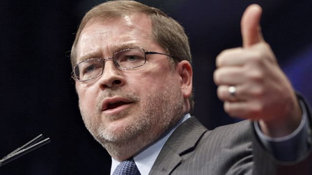 Anti-tax activist Grover Norquist, president of Americans for Tax Reform, addresses the Conservative Political Action Conference (CPAC) in Washington. (AP Photo/J. Scott Applewhite, file)
