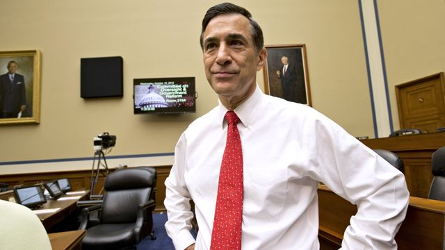 House Oversight Committee Chairman Rep. Darrell Issa, R-Calif., arrives on Capitol Hill in Washington, Wednesday, Oct. 10, 2012, for a hearing on the attack on the American consulate in Benghazi, Libya that resulted in the death of U.S. Ambassador Christopher Stevens. (AP Photo/J. Scott Applewhite)