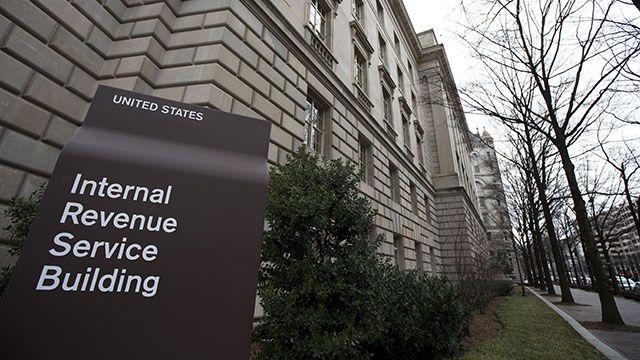 The Internal Revenue Service building at the Federal Triangle complex in Washington, Saturday, March 2, 2013. (AP Photo/Manuel Balce Ceneta)